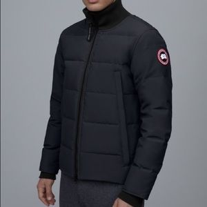 NEW Canada Goose Woolford Black Down Bomber Jacket